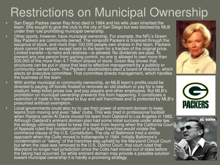 Restrictions on Municipal Ownership