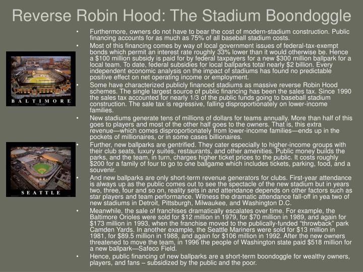 Reverse Robin Hood: The Stadium Boondoggle