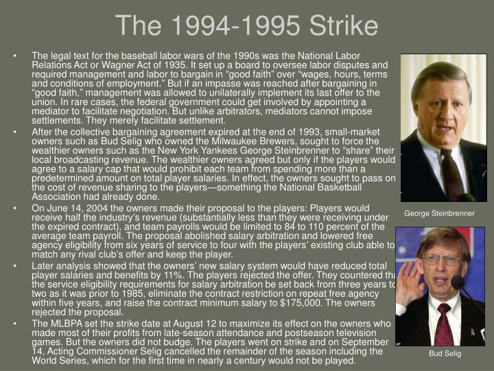 The 1994-1995 Strike