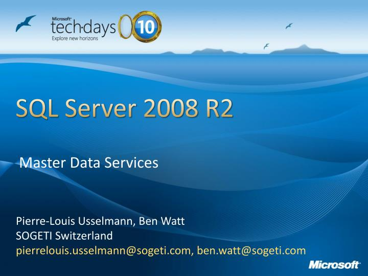 Master data services restore database