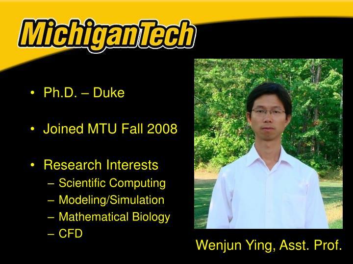Ph.D. – Duke
