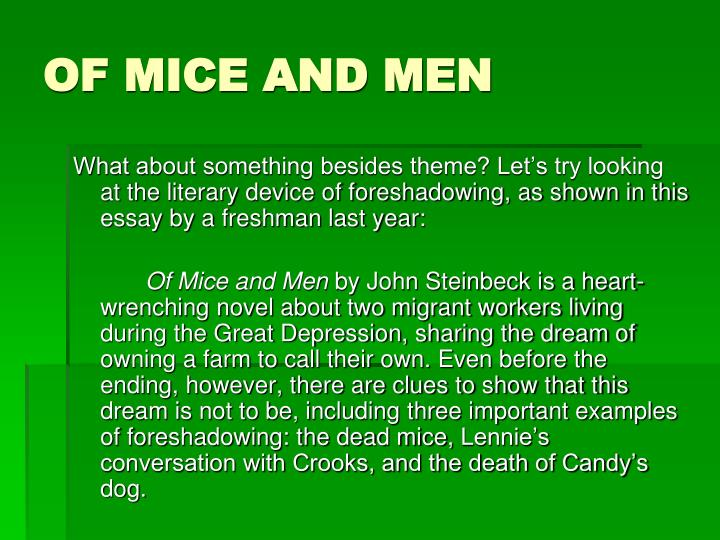 of mice of men essay