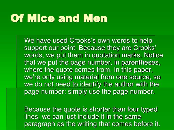 of mice and men help essay