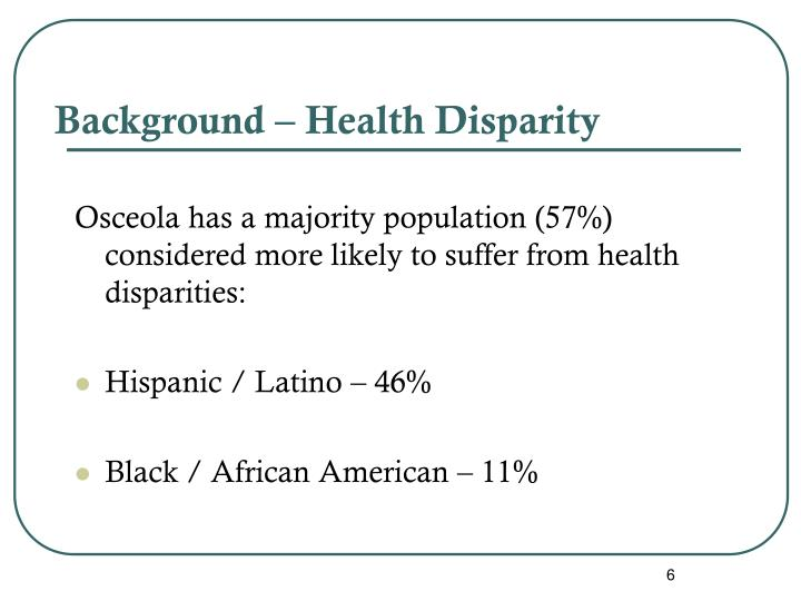 Background – Health Disparity