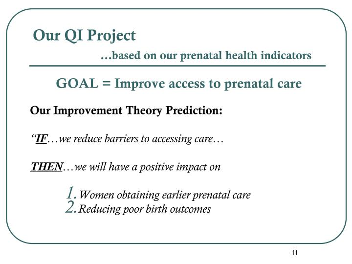 Our QI Project