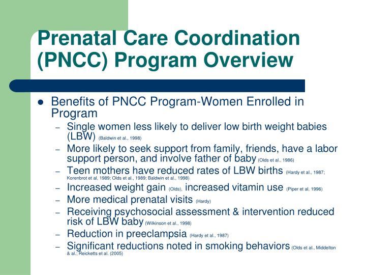 Prenatal Care Coordination (PNCC) Program Overview
