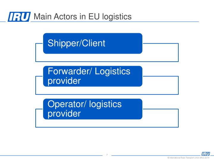 Main Actors in EU logistics