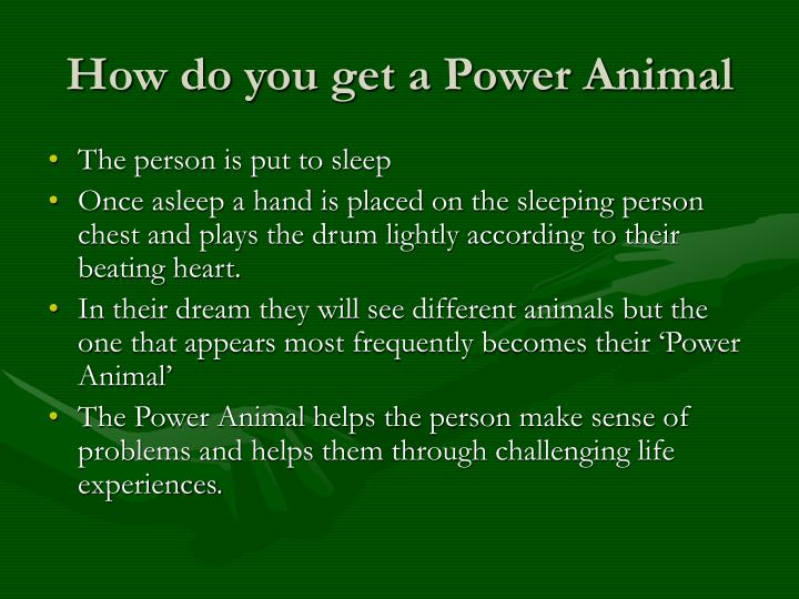 How do you get a Power Animal