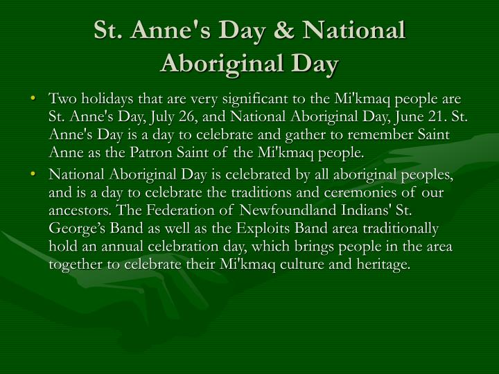 St. Anne's Day & National Aboriginal Day