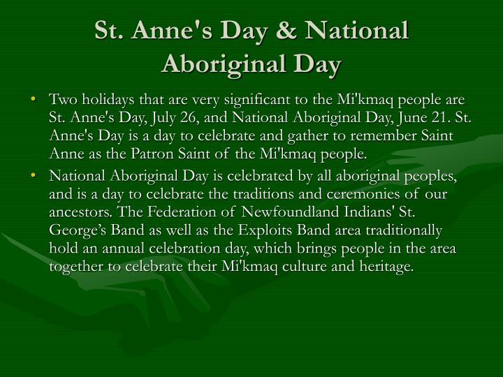 St. Anne's Day & National Aboriginal Day