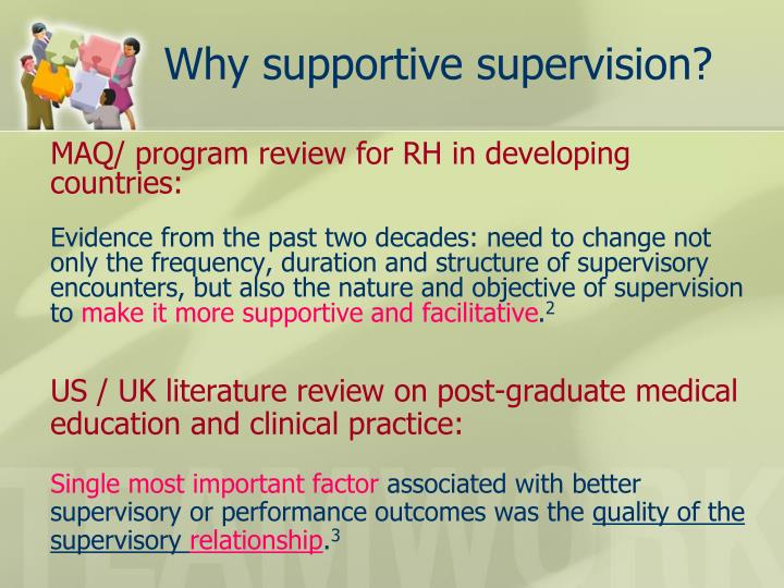 Why supportive supervision?