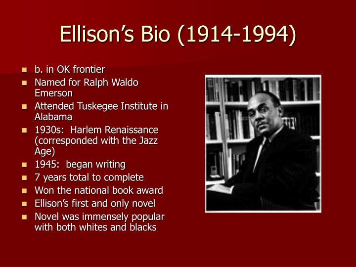 Ellison's Bio (1914-1994)