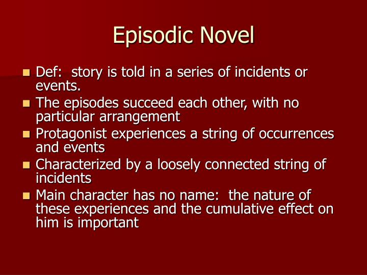 Episodic novel