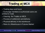 trading at mcx
