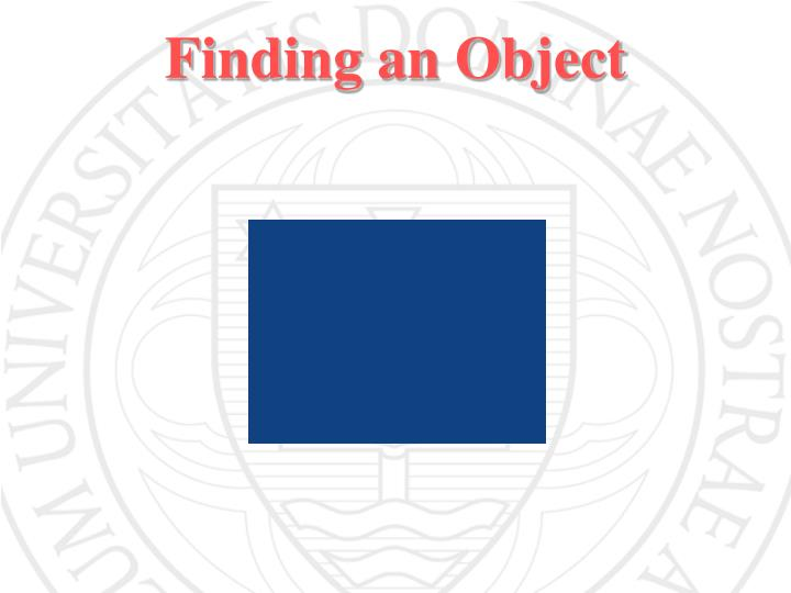 Finding an Object