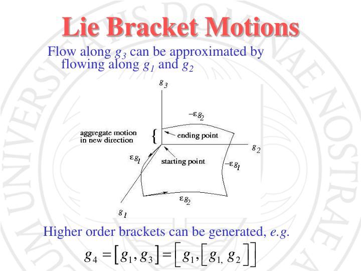 Lie Bracket Motions