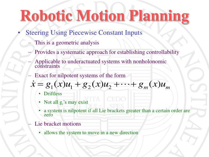 Robotic Motion Planning