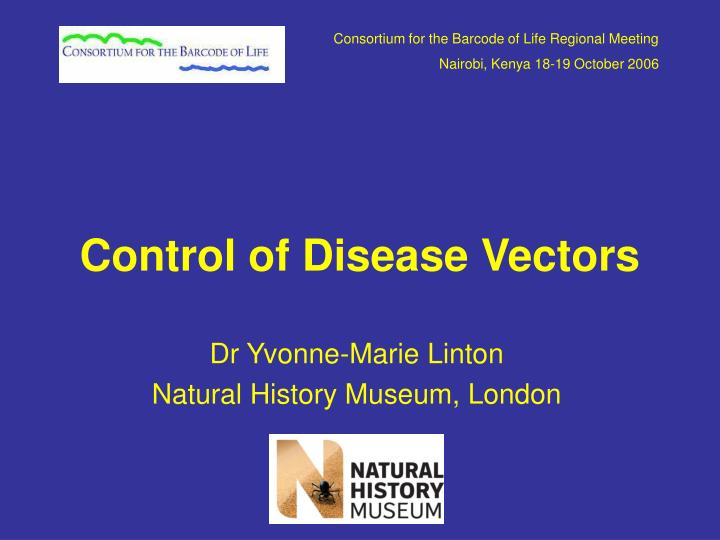 Control of disease vectors