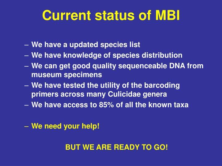 Current status of MBI
