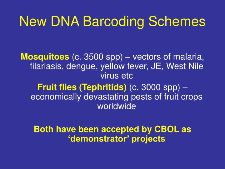 New DNA Barcoding Schemes