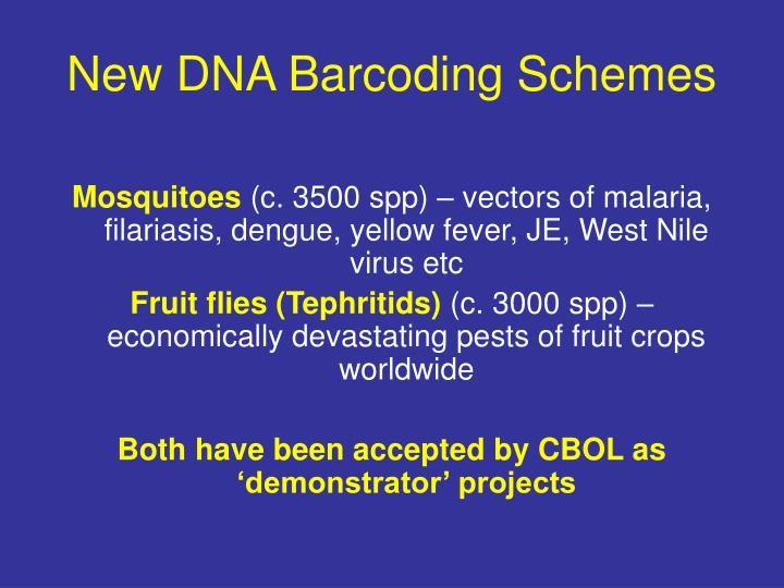 New DNA Barcoding Schemes