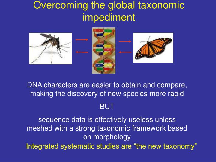 Overcoming the global taxonomic impediment