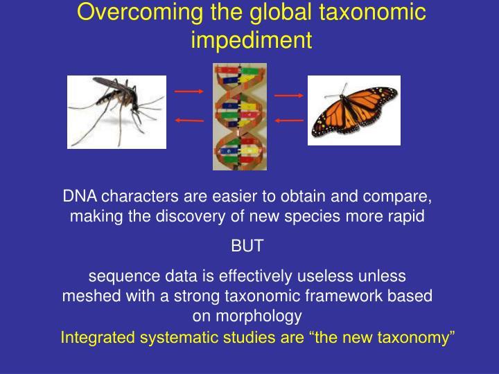 Overcoming the global taxonomic impediment