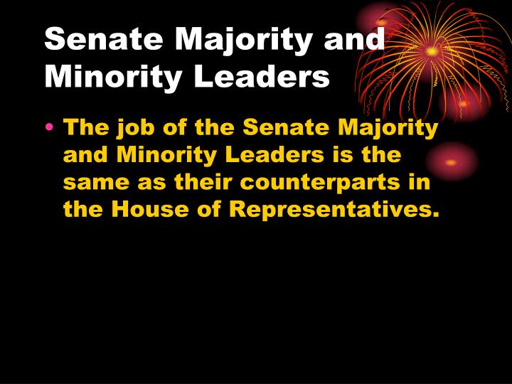 Senate Majority and Minority Leaders