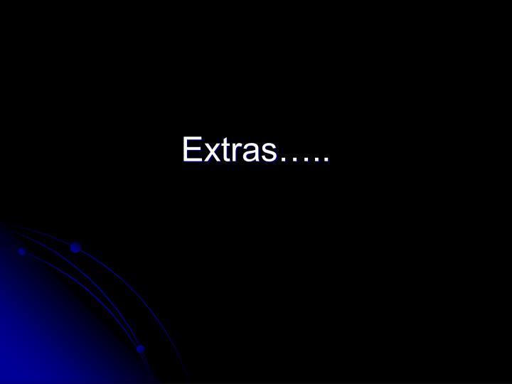 Extras…..