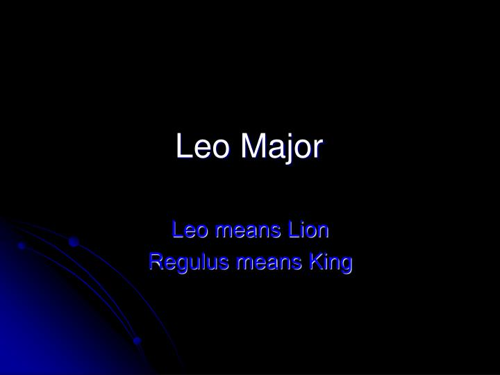 Leo Major