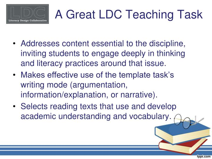 A Great LDC Teaching Task