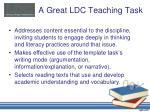 a great ldc teaching task