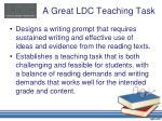 a great ldc teaching task1