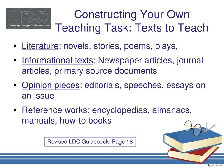 Constructing Your Own Teaching Task: Texts to Teach
