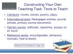 constructing your own teaching task texts to teach