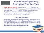 informational explanatory description template task