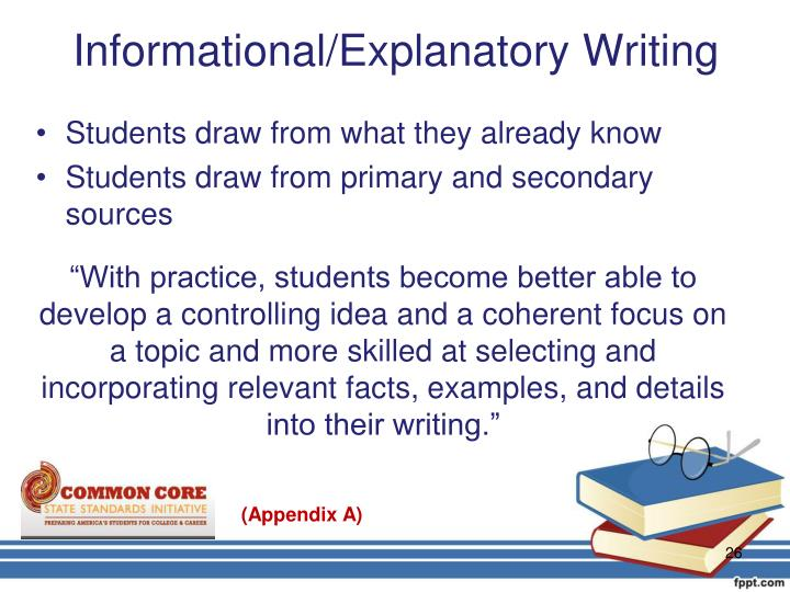 Informational/Explanatory Writing