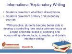 informational explanatory writing1