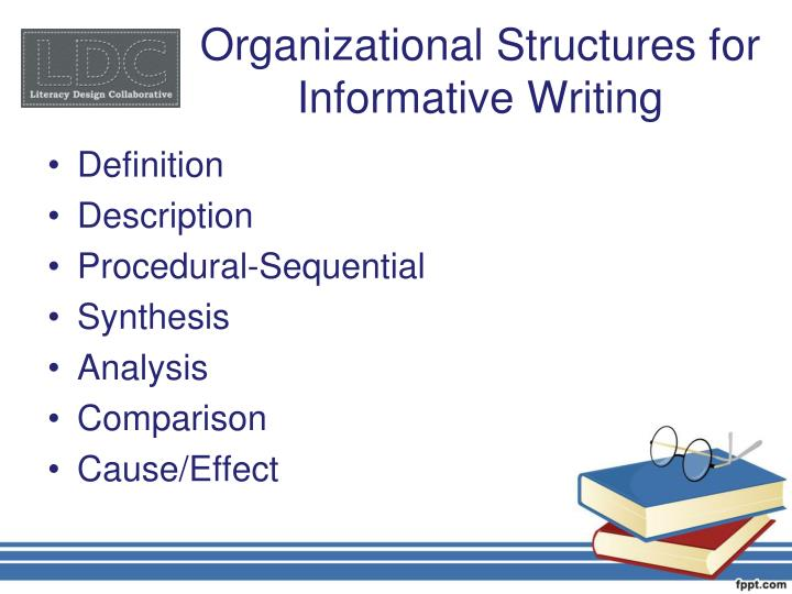 Organizational Structures for Informative Writing