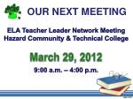 our next meeting