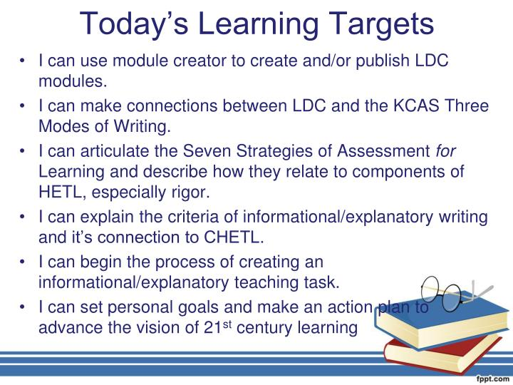 Today's Learning Targets
