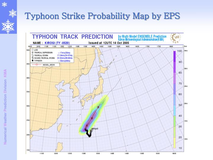 Typhoon Strike Probability Map by EPS