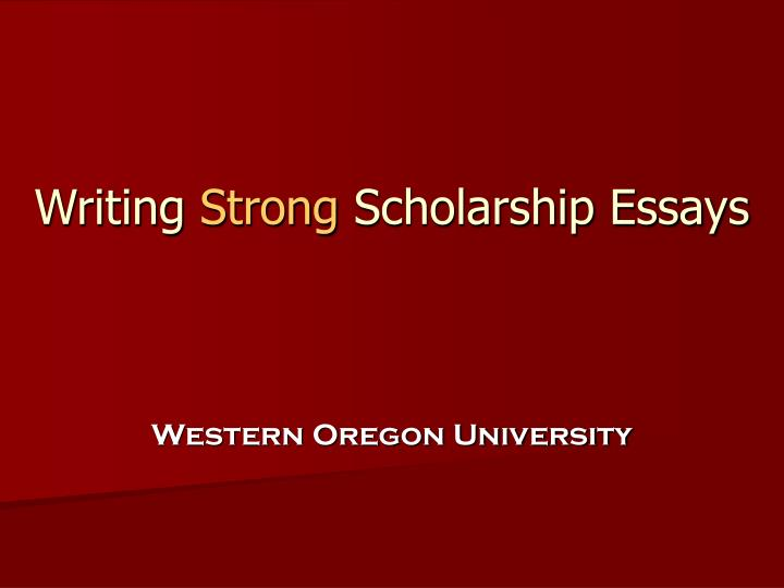 writing a strong essay Learn how to write a strong essay introduction with recommendations from university of maryland university college's effective writing center.