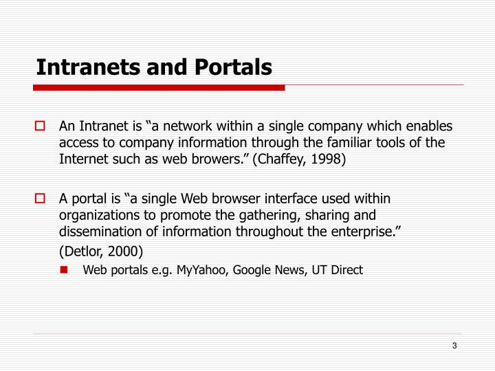 Intranets and portals