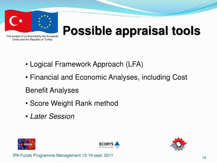 Possible appraisal tools