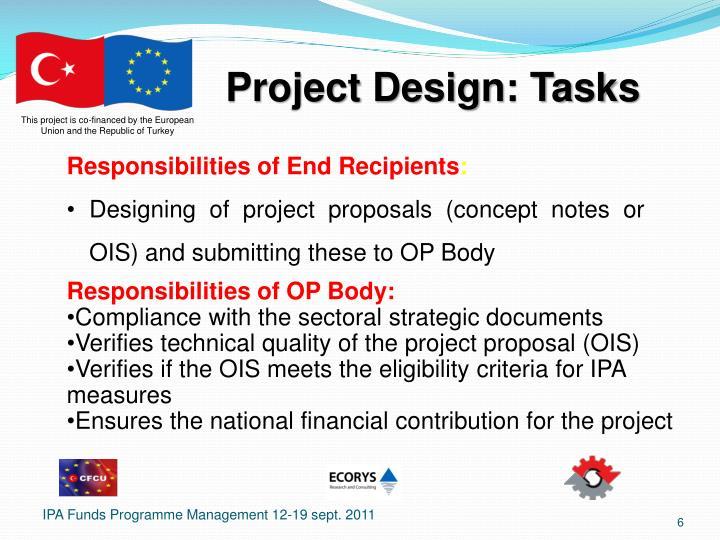 Project Design: Tasks