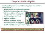 adopt a gibbon program