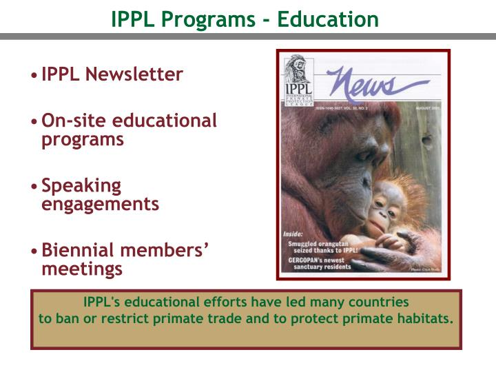 IPPL Programs - Education