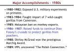 major accomplishments 1980s
