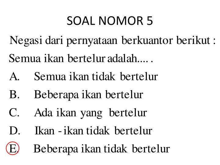 SOAL NOMOR 5